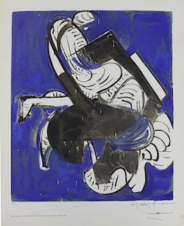 """HOFMANN, Hans. Color Screenprint """"Composition in"""