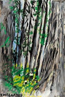 Justin McCarthy (1892-1977) Sequoia Trees