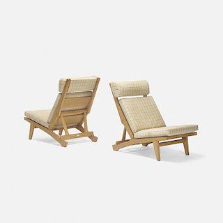 Hans J. Wegner, lounge chairs model GE375, pair