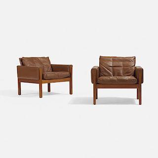 Hans J. Wegner, lounge chairs model AP62, pair