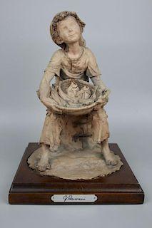 """Giuseppe Armani Figurine """"Fish Seller"""""""