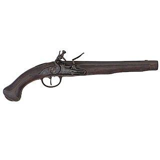 Early Flintlock Military Pistol