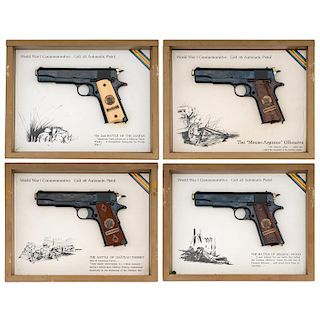 **Set Of Four World War One Commemorative Colt Pistols