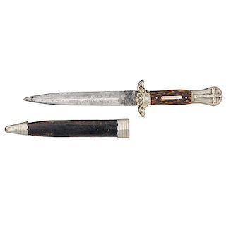 Rare Knife By Jackson & Co With Silver Pommel Jesus Christ On The Cross