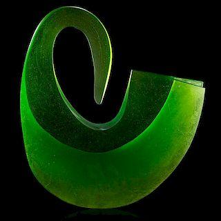 V. KLUMPAR; M. PAVLIK Massive glass sculpture