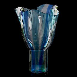 TIMO SARPANEVA; VENINI Large glass vase