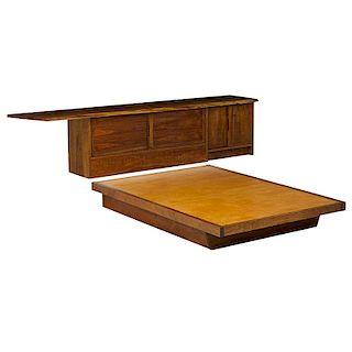 GEORGE NAKASHIMA Conoid Headboard and Platform Bed