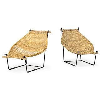 JOHN RISLEY Pair of lounge chairs