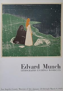 Youth and old age, original lithographic poster, 1969 - Edvard Munch