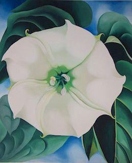 White Flower - Lithograph - Georgia O'Keeffe