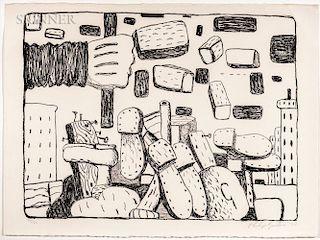Philip Guston (American, 1913-1980)  The Street