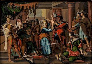 After Joachim Antonisz Wtewael (c. 1566-c. 1638)  The Judgment of Solomon