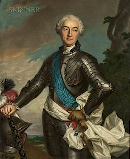 French School, 18th Century  Knight of the Order of Malta in Armor