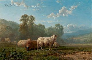 Alfred Eduard Agenor de Bylandt (Belgian, 1829-1890)  Sheep in a Summer Landscape