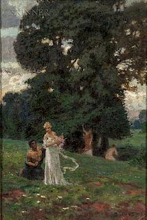 Sebastian Lucius (Italian, before 1881-after 1920)  Arcadian Landscape