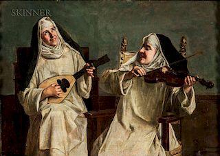 Alessandro Sani (Italian, 1856-1927)  A Spirited Duet