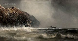 (Robert) William Wilson Cowell (American, 1819-1898)  Shipping in a Storm off the Coast