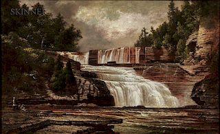 David Johnson (American, 1827-1908)  Figures by Trenton Falls