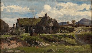 William Preston Phelps (American, 1848-1923)  Sod-roofed Cottage