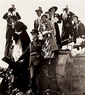 Bill Brandt, (British, 1904-1983), Coach Party, Royal Hunt Cup Day, Ascot, 1933