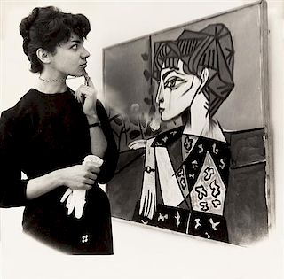 Weegee, (American, 1899-1968), Woman Viewing Picasso Painting at the Tate, 1960 together with 29 other gelatin silver prints