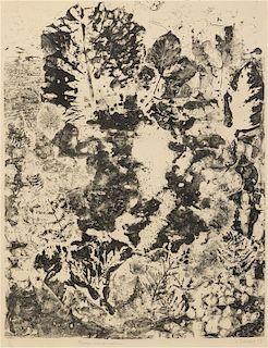 Jean DuBuffet, (French, 1901-1985), Paysage aux Frondaisons, 1953