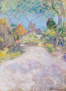 John Henry Twachtman, (American, 1853-1902), The Back Road, c. 1890-99