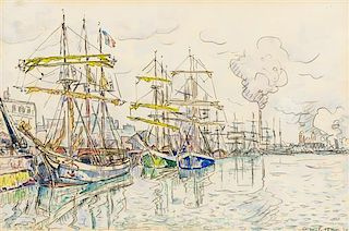 * Paul Signac, (French, 1863-1935), St. Malo, 1930