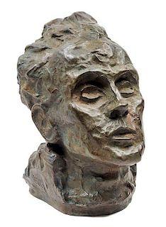Egon Schiele, (Austrian, 1890-1918), Selbstbildnis, 1917