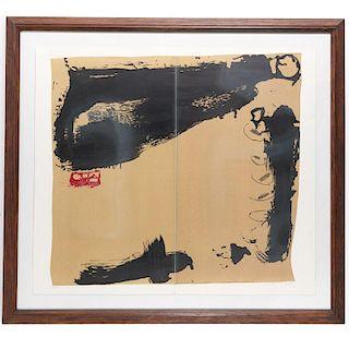 Antoni Tapies, large lithograph