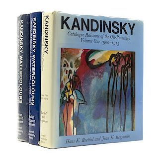 (KANDINSKY, WASSILY) Kandinsky Watercolours: Catalogue Raisonne. Vols. One and Two. With 2 others.