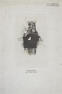 (REDON, ODILON) BAUDELAIRE, CHARLES. Les fleurs du mal. Brussels, 1890. Complete set of 9 engravings.