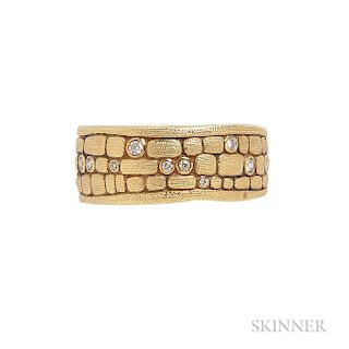 18kt Gold and Diamond Band, Alex Sepkus