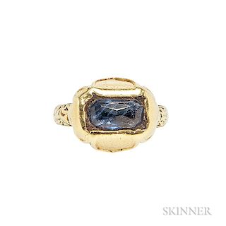Renaissance Revival Gold and Sapphire Ring