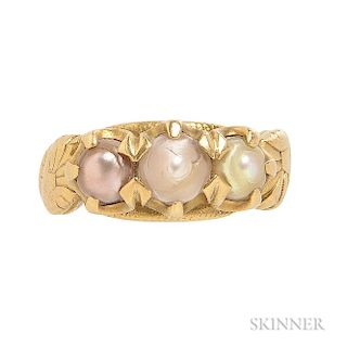 Antique 18kt Gold and Pearl Ring, Tiffany & Co.
