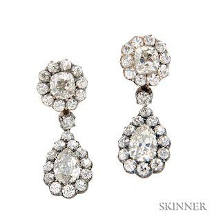 Antique Diamond Day/Night Earrings