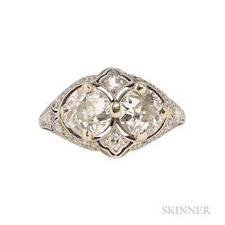 Diamond Twin-Stone Ring