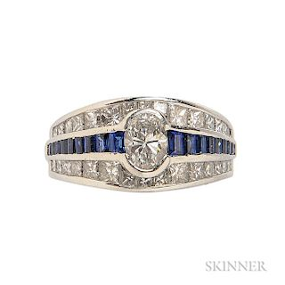 Platinum, Diamond, and Sapphire Ring, J.B. Star