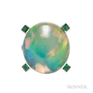 Opal and Emerald Ring, Mounted by Cartier