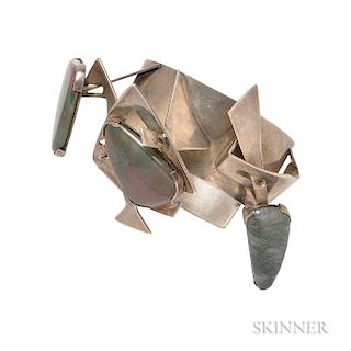 Sterling Silver and Hardstone Kinetic Bracelet, A+H Mackie