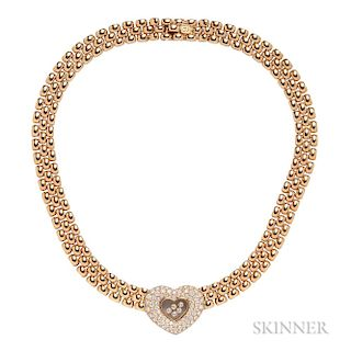 "18kt Gold and Diamond ""Happy Diamonds"" Necklace, Chopard"