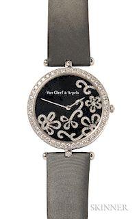 "18kt White Gold and Diamond ""Lady Arpels Dentelle"" Wristwatch, Van Cleef & Arpels"