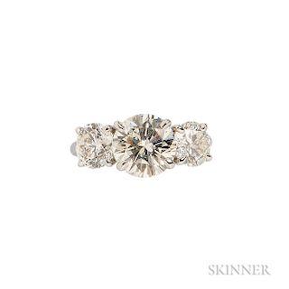 Platinum and Diamond Three-stone Ring