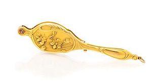 An Art Nouveau 14 Karat Yellow Gold Lorgnette, 25.60 dwts.