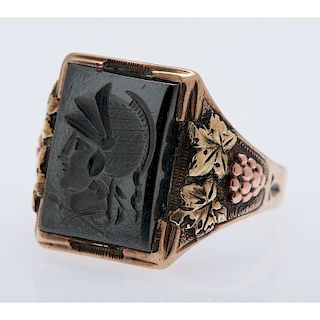 10 Karat Yellow Gold Intaglio Ring