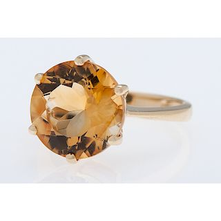 14 Karat Yellow Gold Six Prong Ring