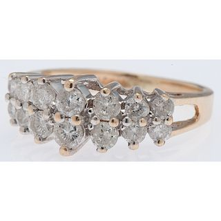 14 Karat Yellow Gold Diamond Ring