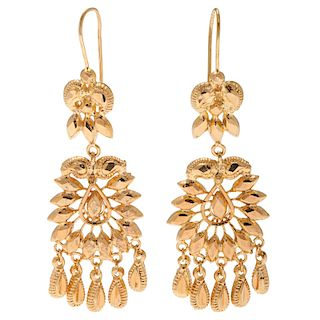 21 Karat Yellow Gold Earrings