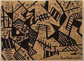 Signed Hans Hofmann Ink on Paper