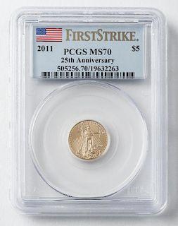 2011 $5 1/10 Oz. American Eagle Gold Coin
